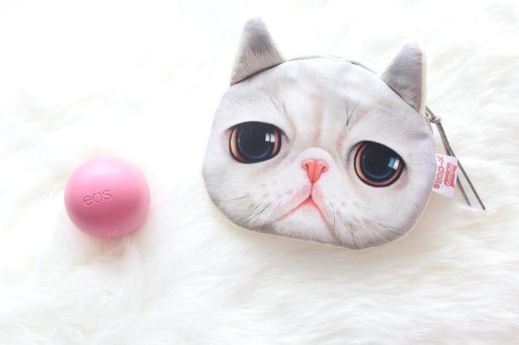 Kitten face coin purse & a much needed eos lip moisturizer