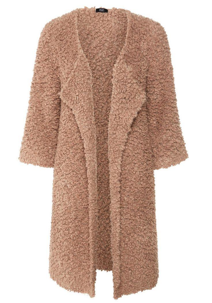 Clothing at Tesco | F&F Textured Popcorn Knit Cascade Cardigan ...