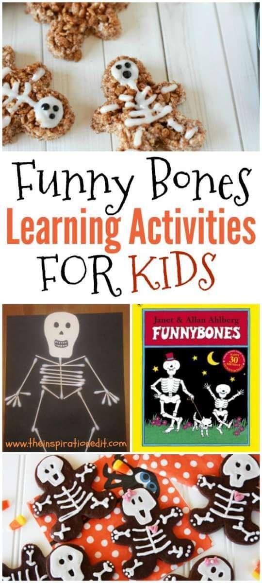 Funny Bones Skeleton Themed Activity Ideas For Kids.   Extending Learning Through Play  Skeleton Crafts Skeleton Cookies  Skeleton Art