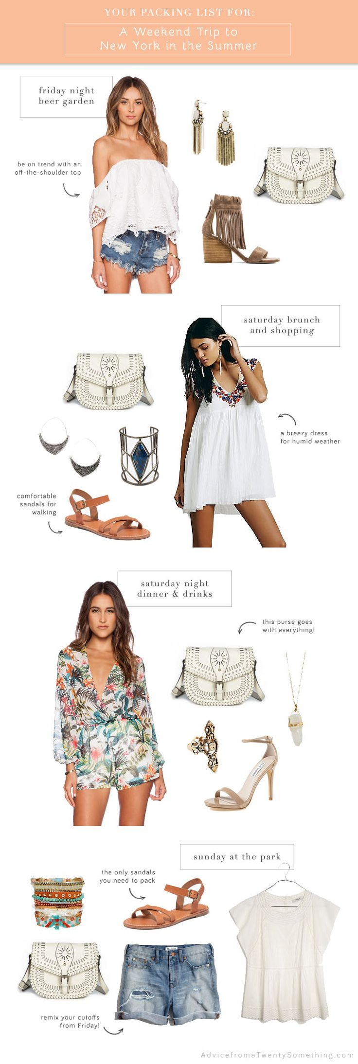 Ask Amanda: What to Pack for a Weekend in New York in the Summer, summer outfits, vacation outfit ideas