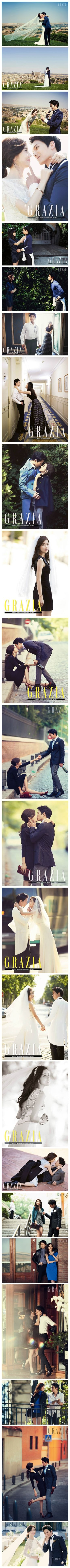 Ji Sung and Lee Bo Young's Wedding Pictures... <3 It's beautiful (:  Photo Credit to Grazia Korea! www.grazia.co.kr