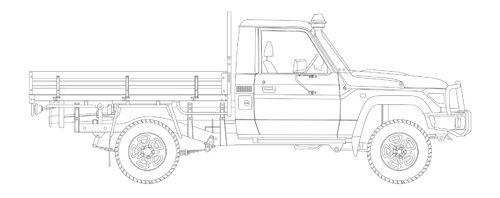 automotive illustration  landcruiser heritage