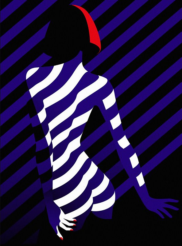 Illustration of a woman's back, from Malika Favre's Cabaret series