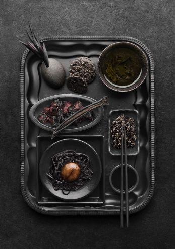 Stock Photo : Black food