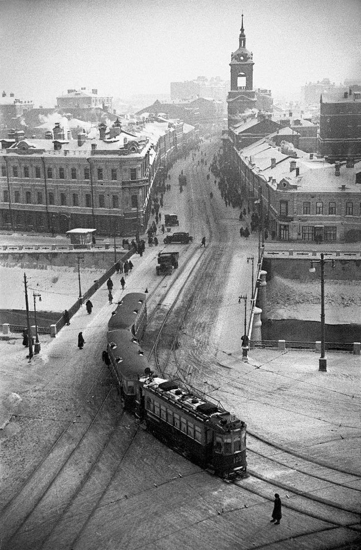 Unknown Photographer - Aerial view from Moscow, USSR, 1930s