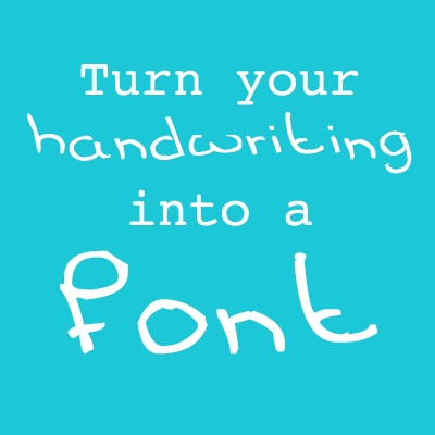 Turn your handwriting into a font with this website.