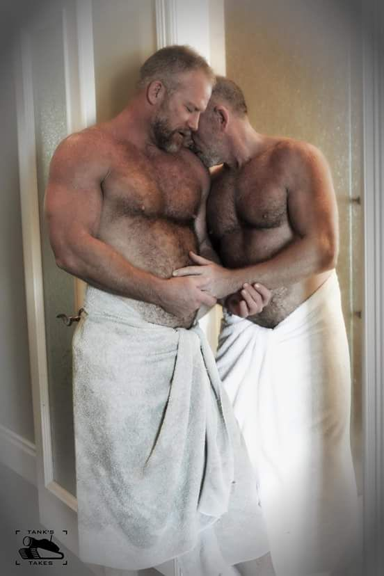 muscular older men naked