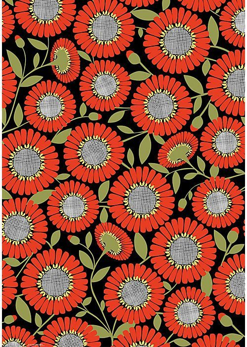 flowers patterned paper: