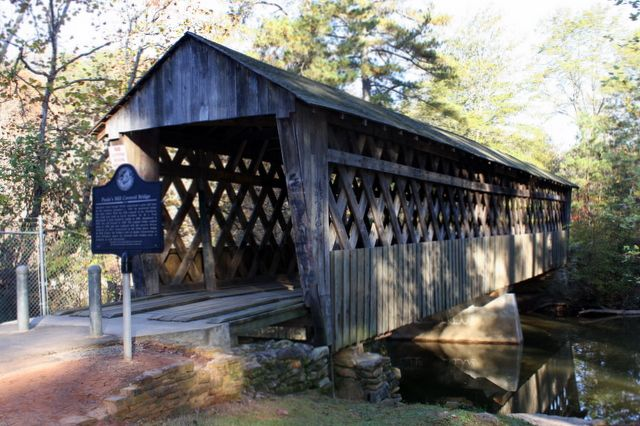Poole S Mill Covered Bridge In Forsyth County Ga Our