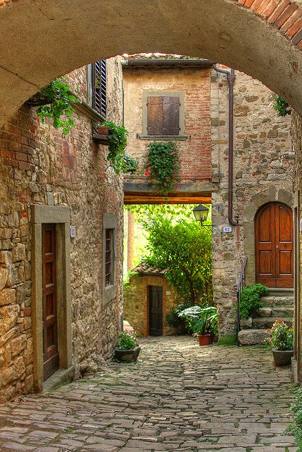 Medieval village of Montefioralle in Tuscany, Italy
