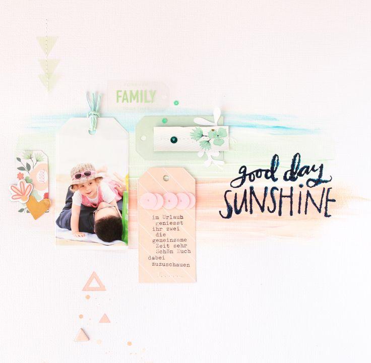 """#layout Good Day Sunshine erstellt mit der Kollektion """"On Trend"""" und Acrylfarben / Steffi Ried"""