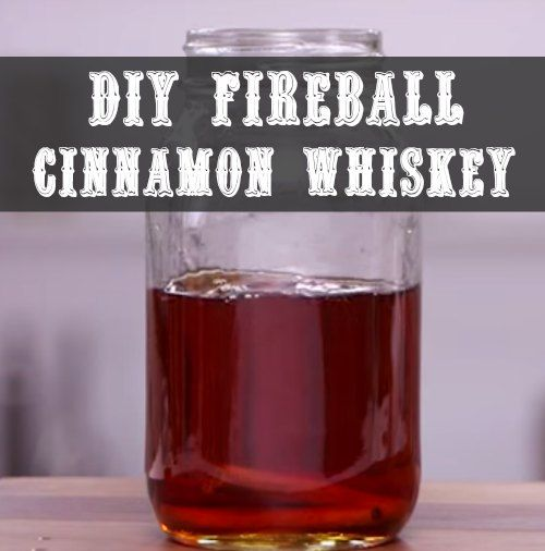 DIY Fireball Cinnamon Whiskey | This natural fireball cinnamon whiskey option will provide the unique taste of fireball without the dangerous chemicals.