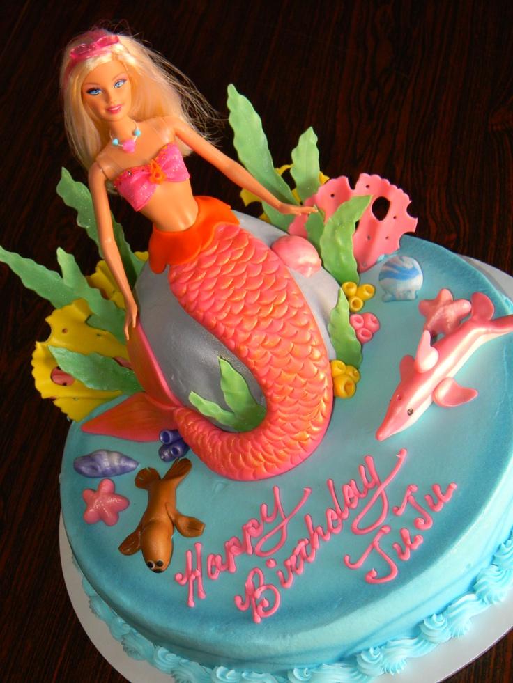 Barbie mermaid cake cakes pinterest