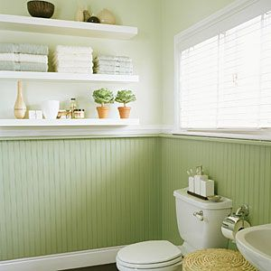 282 best pinterest diy home improvements images on for Green painted bathroom ideas