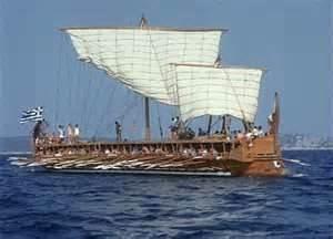 Replica of a Greek trireme.
