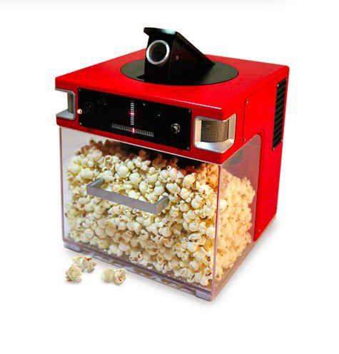 Esta máquina para hacer palomitas de maiz que las lanza directo a tu boca: | 19 productos absolutamente necesarios para gente perezosa