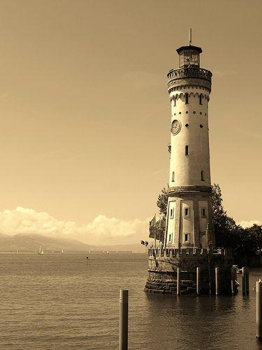 Looks like a porcelain sculpture!  Lindau Lighthouse - Germany