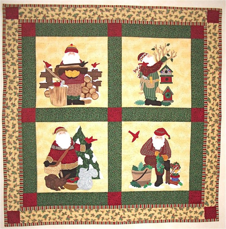 The 103 best Christmas quilts images on Pinterest | Applique ...