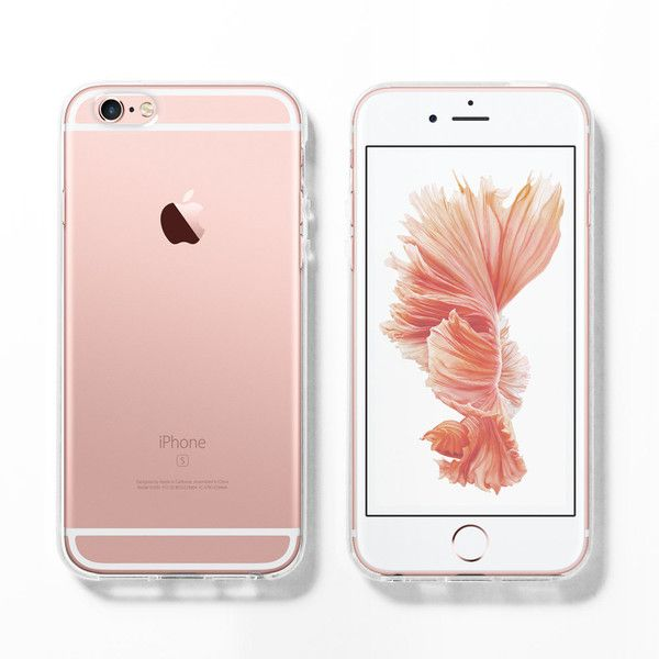 Soft clear iPhone 6s case, Rose gold, iPhone 6 case, iPhone 5s case,... (65 ILS) ❤ liked on Polyvore featuring accessories, tech accessories and phone