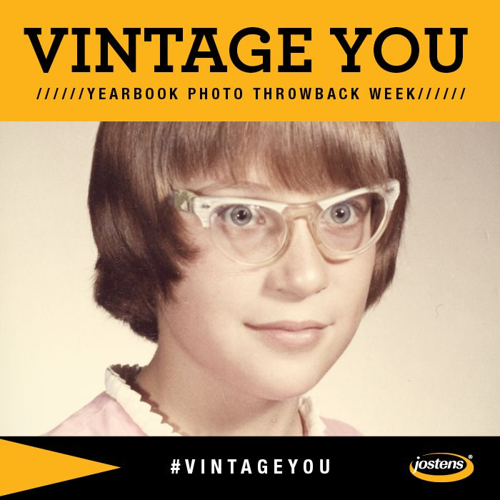 What do you get when you cross #ThrowbackThursday with National Yearbook Week? Our Yearbook Photo Throwback Week, of course.  Starting Oct. 7-11, we'll be celebrating National Yearbook Week with our #VintageYou Sweepstakes! We're asking YOU to share your best throwback photo from an old yearbook on Instagram. Upload your photo, tag us @Jostensinc and use the #VintageYou hashtag for your chance to win an iPad mini.