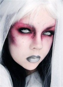 Crazy Zombie Halloween makeup. Very simple and dramatic. How to instructions too!