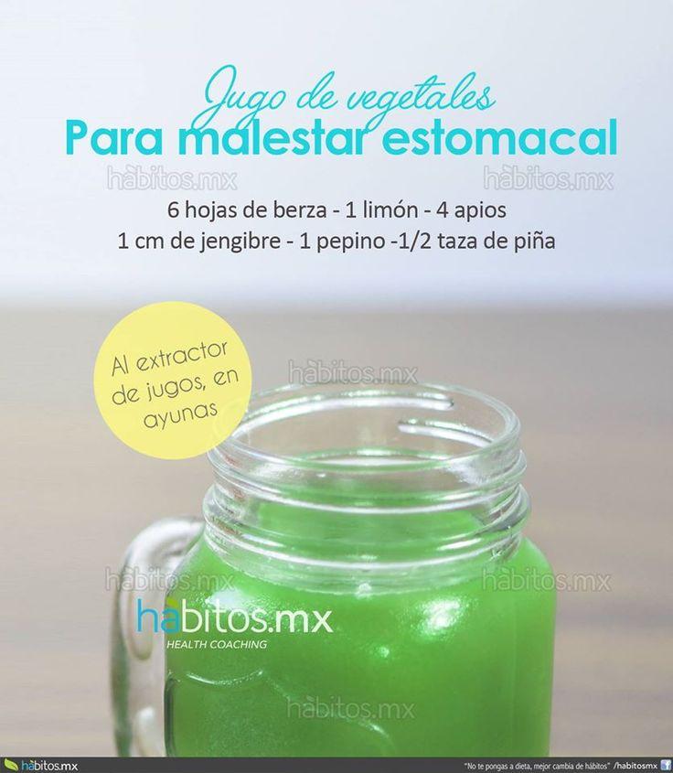 Hábitos Health Coaching   JUGO DE VERDURAS PARA MALESTAR ESTOMACAL