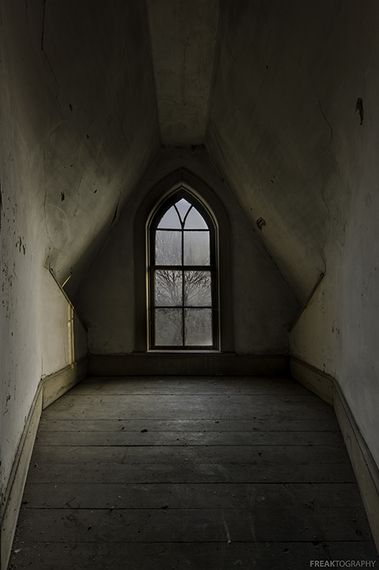 Interior, abandoned cottage, London, Ontario