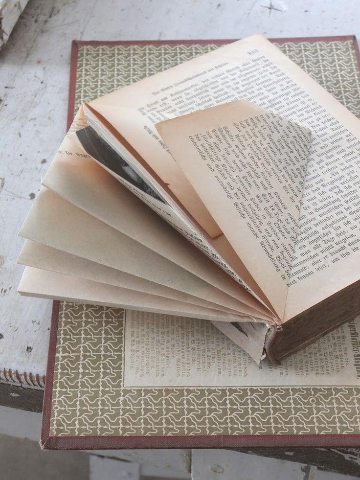 papierfalten, basteln mit alten Büchern, Dekoideen die nicht viel kosten,