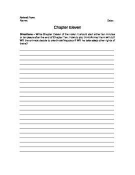 Animal Farm Epilogue Writing Assignment Prompt By Chapter