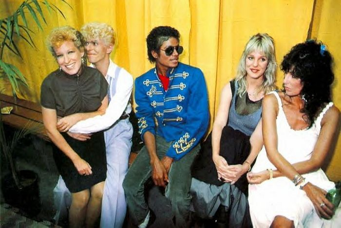 Bette Midler, David Bowie, Michael Jackson, Georganne LaPiereand Cher. Now that's an interesting group of people!