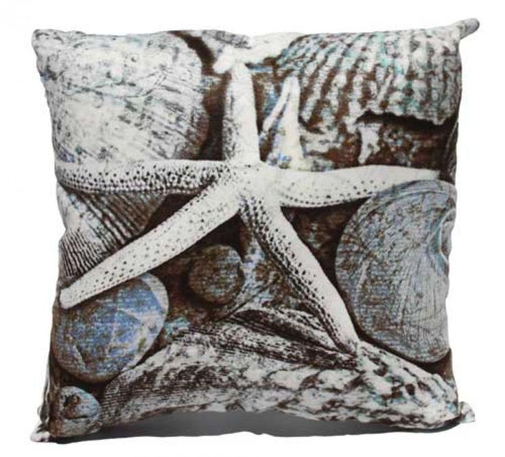 Natural Starfish Cushion PLUS Insert - 40cm x 40cm - Tropical Beach Style