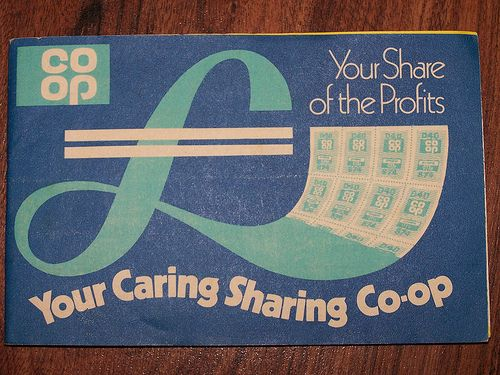 Co-op savings stamps book 1970s