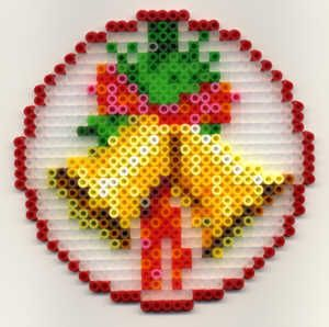 Christmas ornament Nabbi perler beads by Emos Pärlkonst