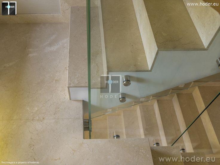 Realizacja Hoder schody marmurowe i granitowe #kamień #schody #granit #marmur #wnętrza #interior #design #office #hallway #marble #granite #hallway #office #modern