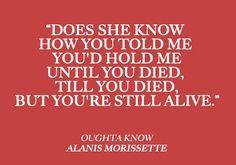 you oughta know - alanis morissette