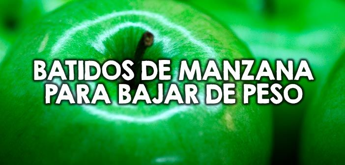Batidos de manzana para bajar de peso http://nutricionysaludyg.com/nutricion/manzana-batidos-smoothies-bajar-peso/