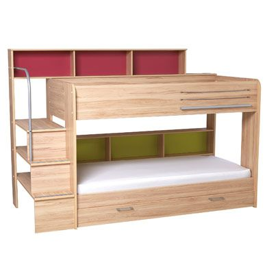 Harbour Natural Storage Bunk Bed So much storage! Great bunk bed idea for a small space.