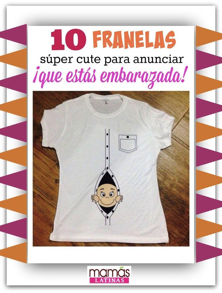Lindas camisetas, T-shirts o franelas para revelar la gran noticia que estás embarazada. ¡No te las pierdas! #embarazo