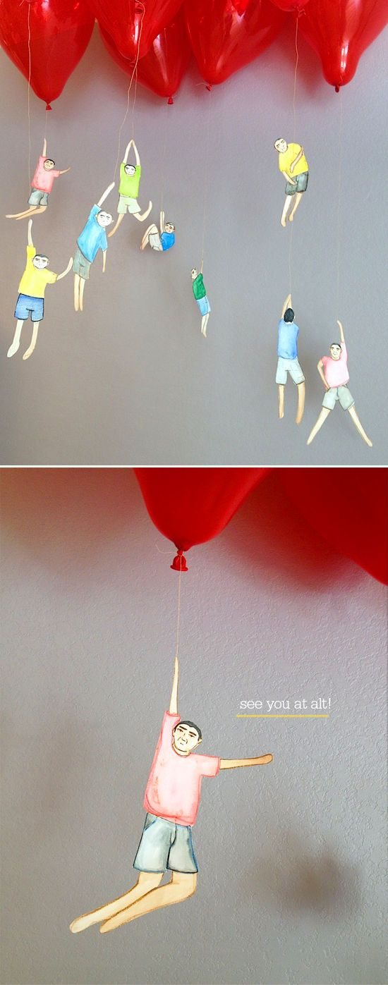 hanging in there balloon craft