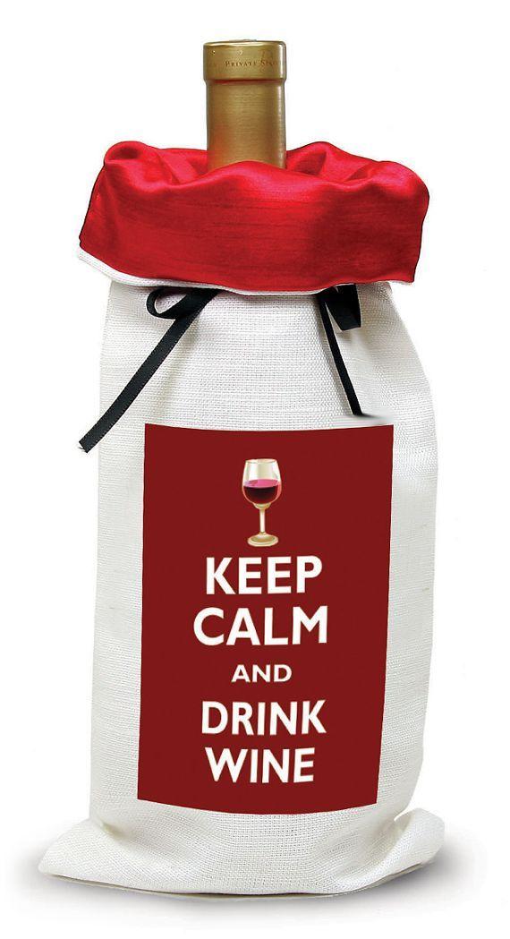 Keep Calm & Drink Wine // Wine Bag