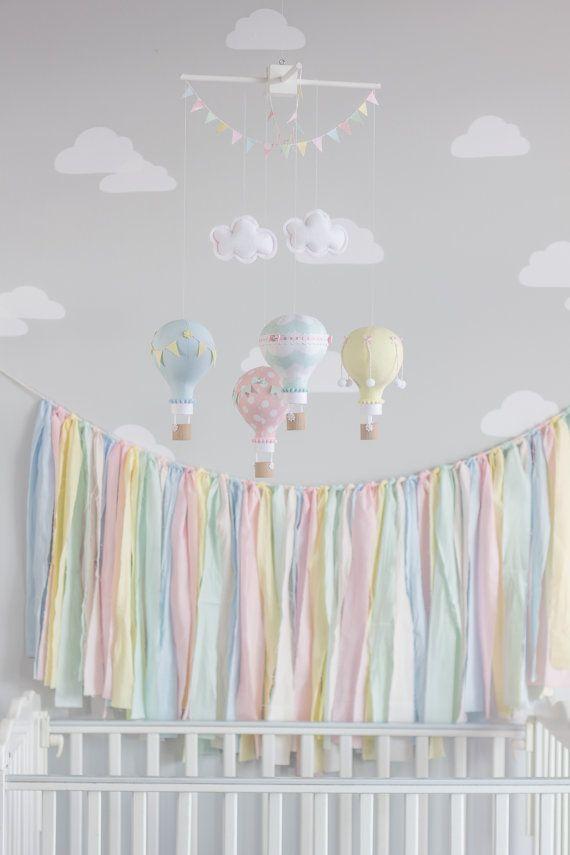 fabric Banner Coral Aqua Peach Taupe Khaki by sunshineandvodka