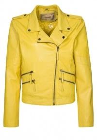 Oakwood Leather Jacket - Yellow