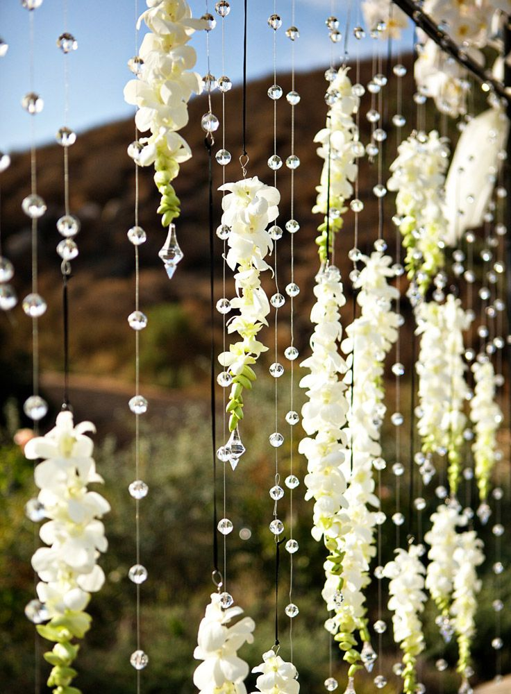 Hanging Orchid and Crystal Gazebo by Very Merry Events