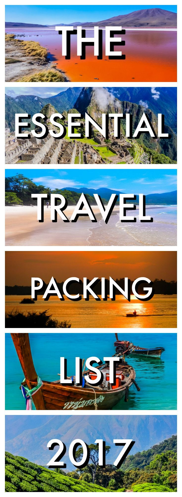 You won't forget anything with our Essential Travel Packing List for 2017. We've got everything covered for a short vacation or epic around the world trip. Travel Tips | Best Travel advice | Packing for Travel | What you need to pack when travelling | Essentials for travelling | Top Packing advice | What do I need to pack | Essential packing list |