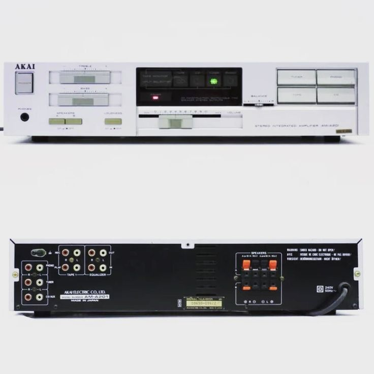 With a solid/honest 40WPC at 8Ohms this Akai from 1986 with it's 80's volume styling still stands out!  Specifications Power output: 40 watts per channel into 8Ω (stereo)  Frequency response: 5Hz to 100kHz  Total harmonic distortion: 0.1%  Damping factor: 30  Input sensitivity: 2mV (MM) 150mV (line)  Signal to noise ratio: 72dB (MM) 95dB (line)  Channel separation: 45dB (line)  Speaker load impedance: 6Ω to 16Ω  Dimensions: 440 x 100 x 267mm  Weight: 5.7kg  Year: 1986  #akai #1980s #1980…