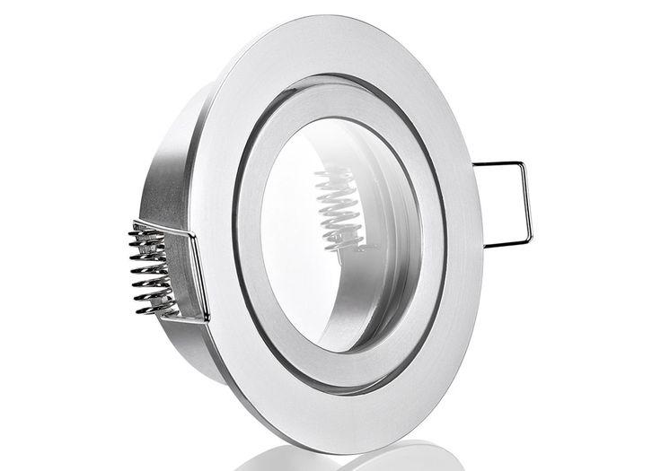 IP44 Aluminium Einbaustrahler Aluminium Feinschliff rund Feuchtraum