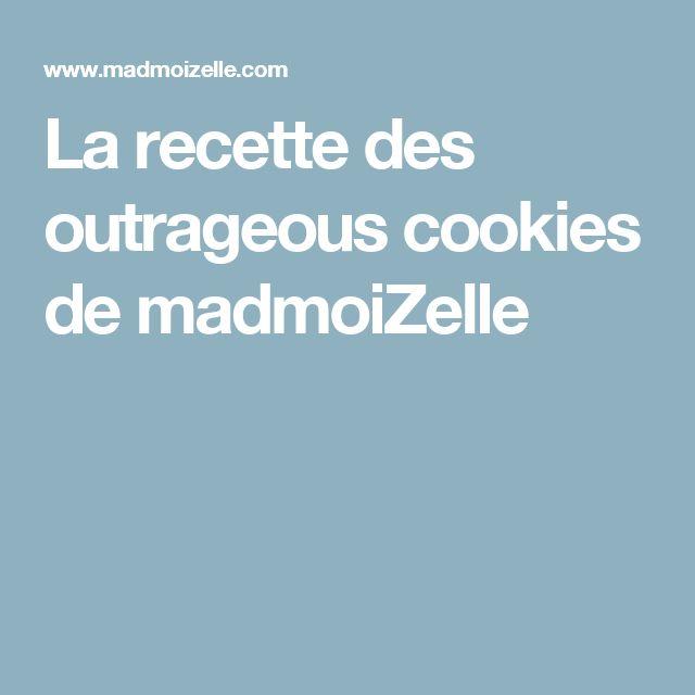 La recette des outrageous cookies de madmoiZelle