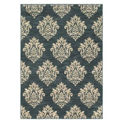Shaw Living® Damask Area Rug - Navy