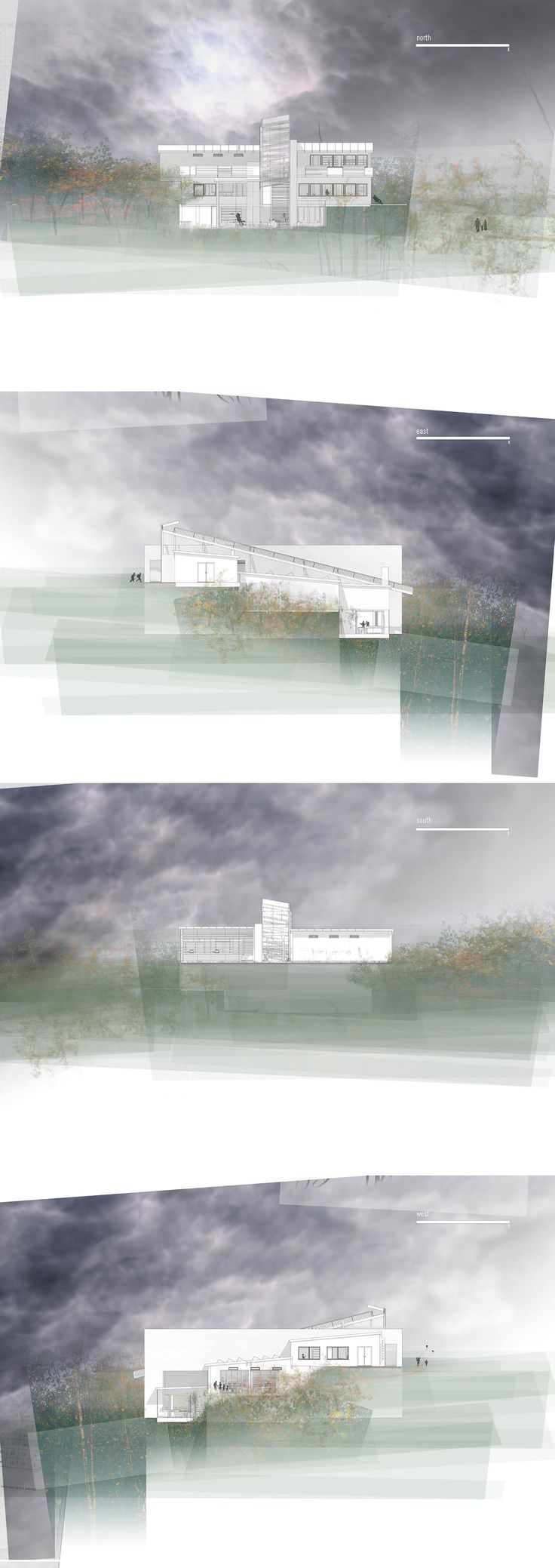 RED WALL SCHOOL OF CUISINE AND HORTICULTURE A stage II brief to design a cookery and gardening school for an old mining site in East Kent. The building had to interact with the existing slope whilst having sea views to the North. It also had to incorporate passive heating and cooling methods, proving it a challenging task.