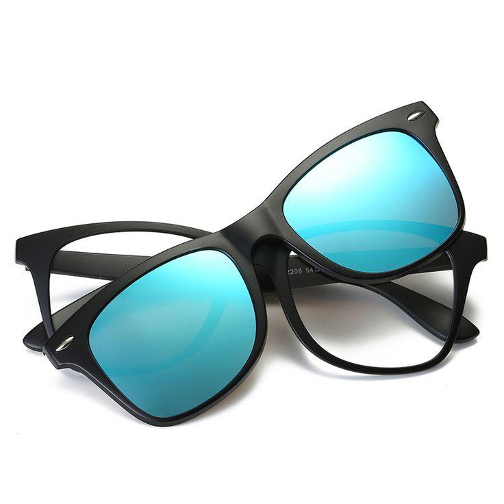2017 New Fashion Polarized Clip On Sunglasses Men Women Fit Over Magnetic sunglasses